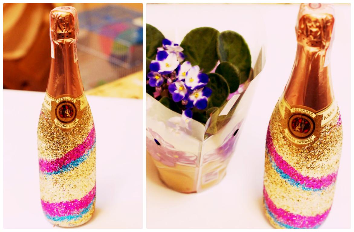 Декор бутылок шампанского своими руками мастер класс 95