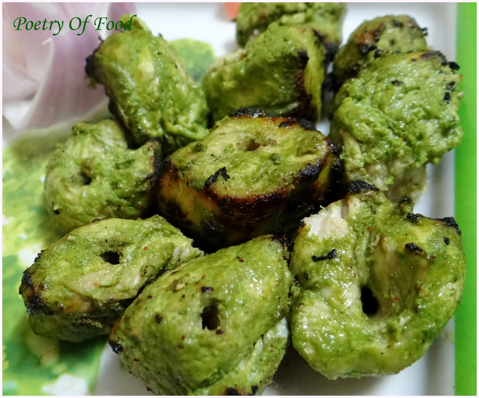 Hariyali Chicken Tikka...Murg Tikka Kebab Hariyalli.