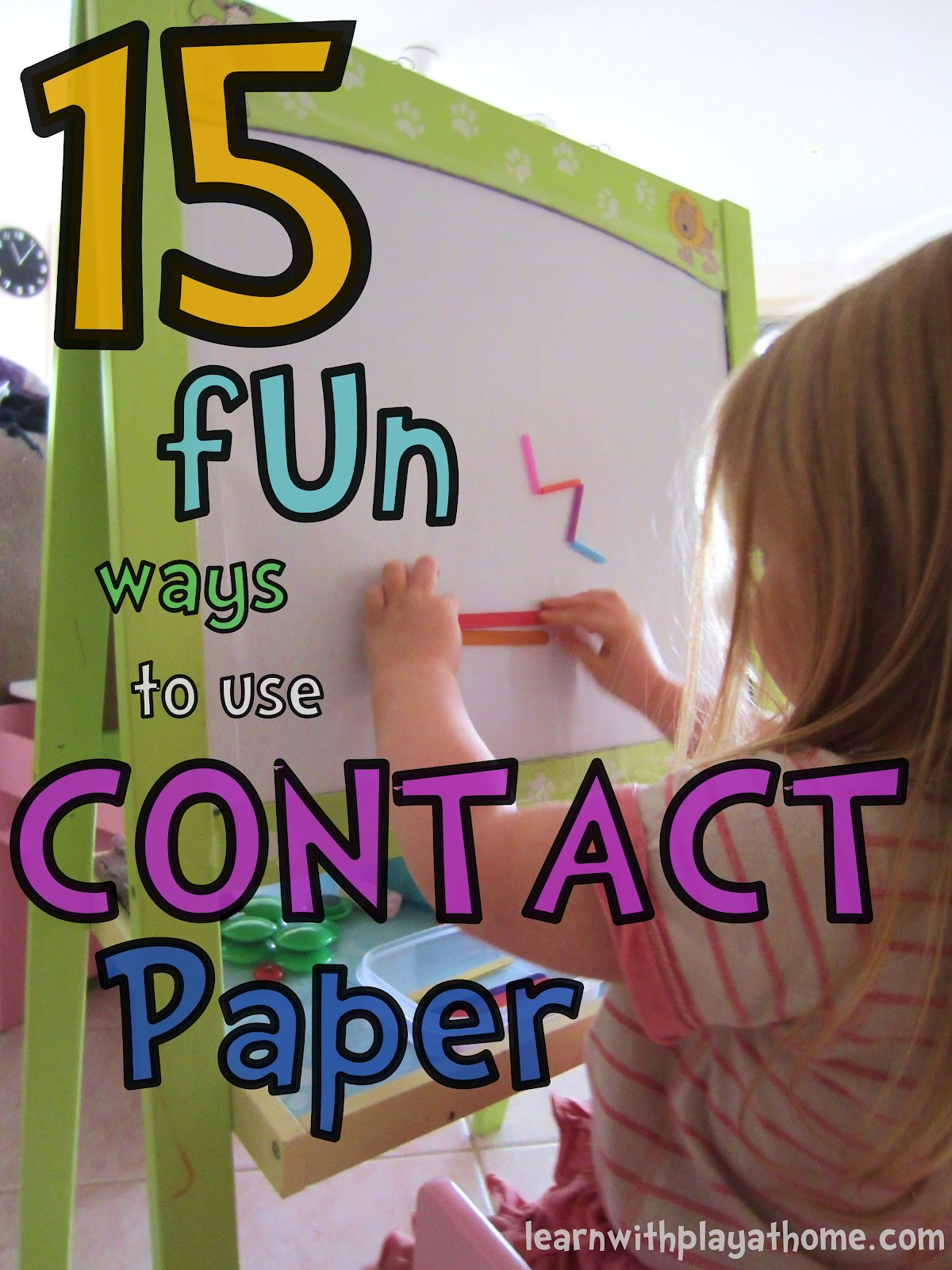 Sticky paper for crafts - Sticky Easel Contact Paper Activity