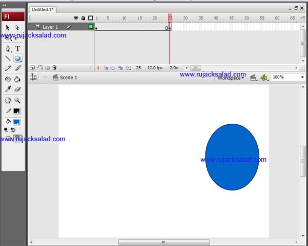 Making Circle On Adobe Flash