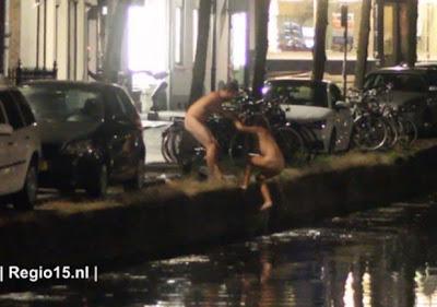 Casal holandês faz sexo num canal perto de Roterdão