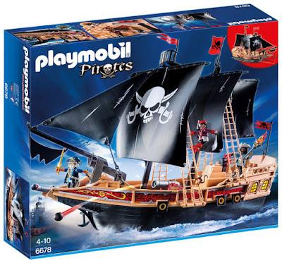 TOYS : JUGUETES - PLAYMOBIL : Piratas | Pirates  6678 Barco Pirata de Guerra | Pirate Warship  Producto Oficial 2015-2016 | Piezas: 115 | Edad: 4-10  Comprar en Amazon España & buy Amazon USA