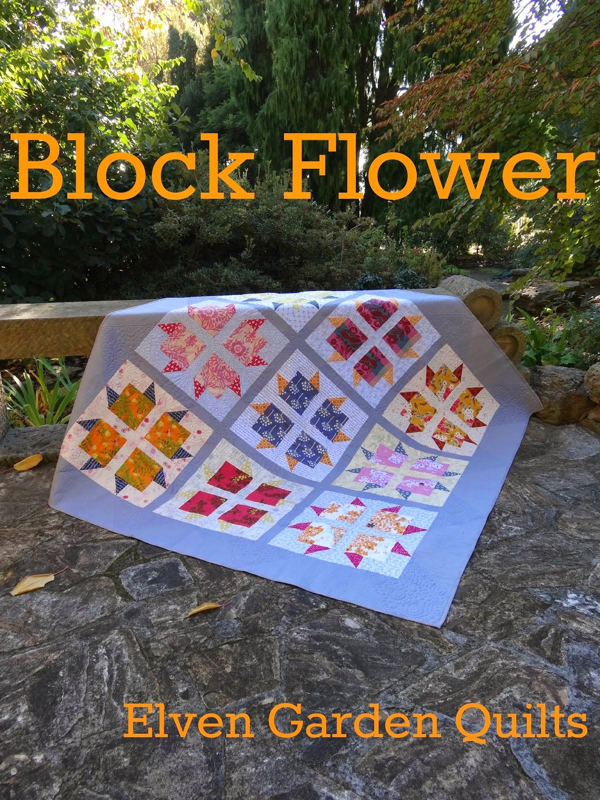 Elven Garden Quilts Block Flower Pattern Release And Giveaway