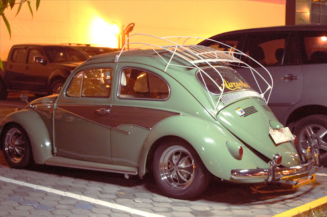 vintage, beetle, volkswagen, green, bug, restored,