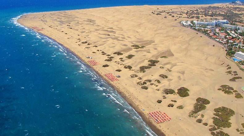 Las fascinantes dunas de arena de Maspalomas