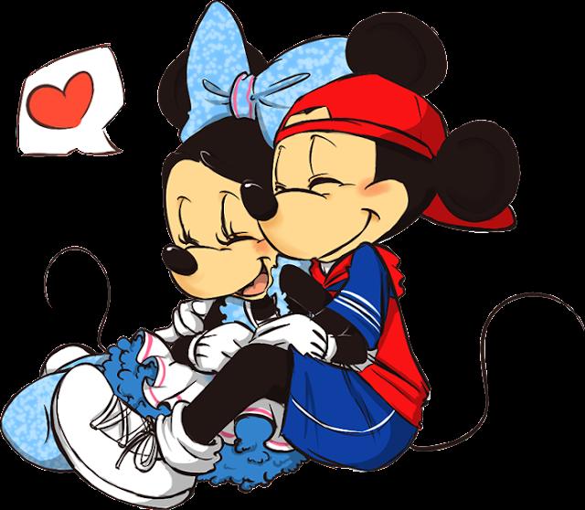 Desenho Minnie e Mickey colorido