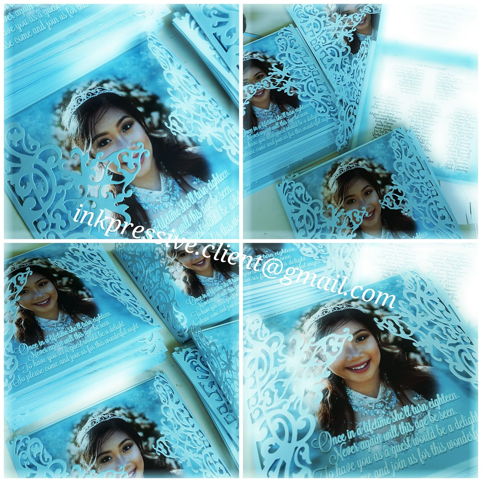 Intricate Cut Winter Themed Invitation For Debut Debut Invitations