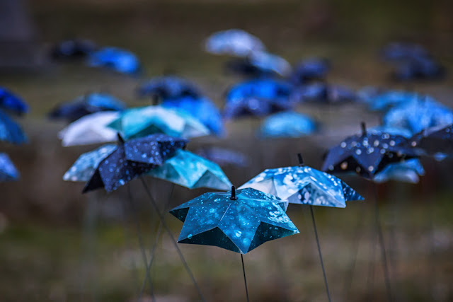 blue grave ornaments vaughan cemetery victoria
