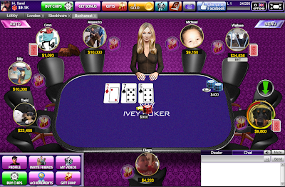 Ivey Poker Room on Facebook - Interface