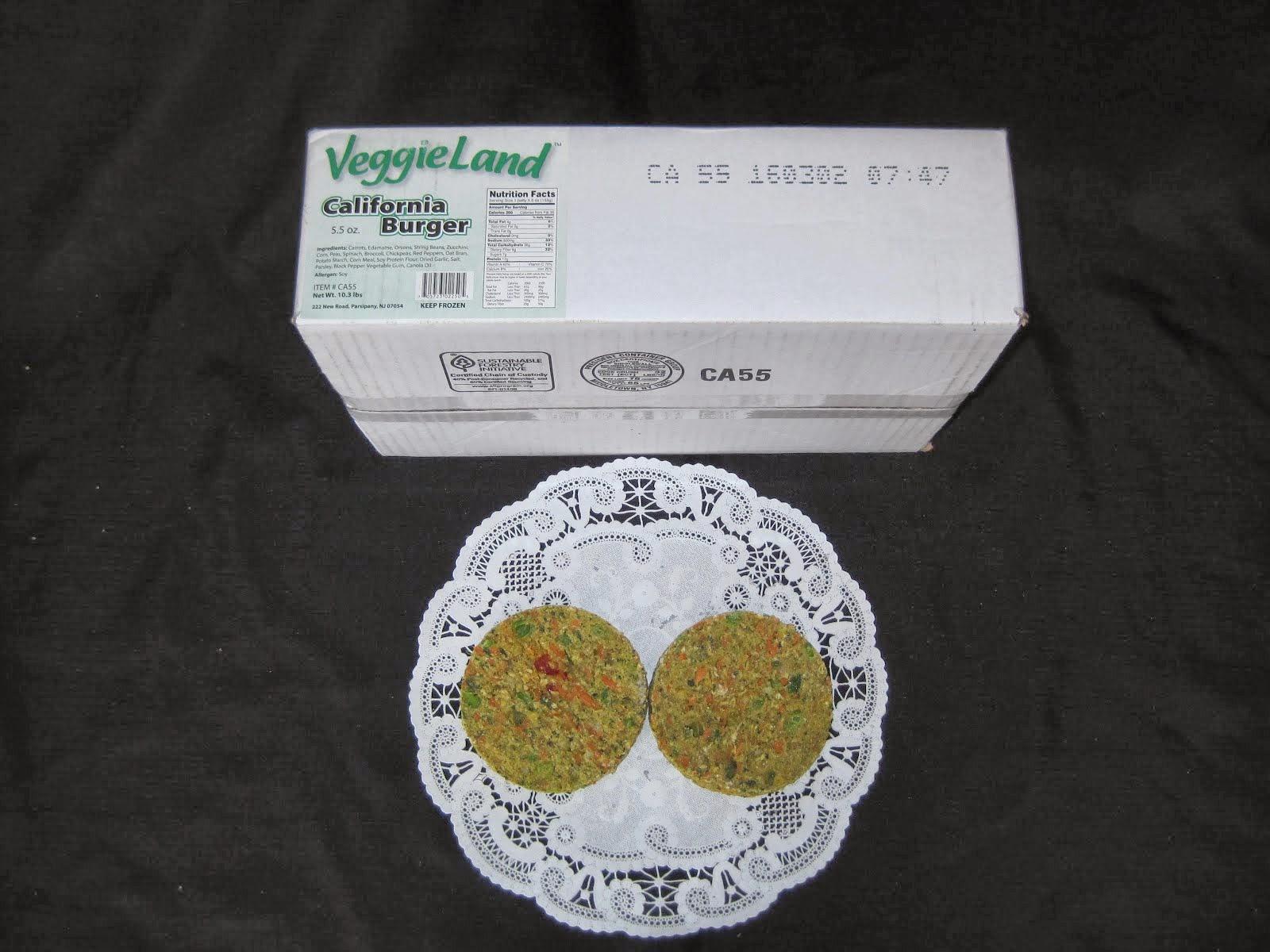 VeggieLand California Burger 30/5.5 oz - Item # 14066