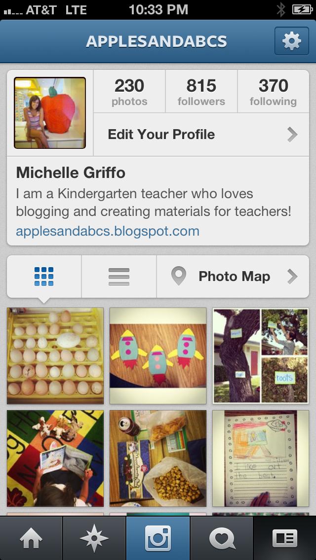 Instagram Profile Template Instagram linky party!