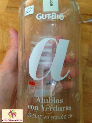 bote de alubias con verduras ecologicas gutbio
