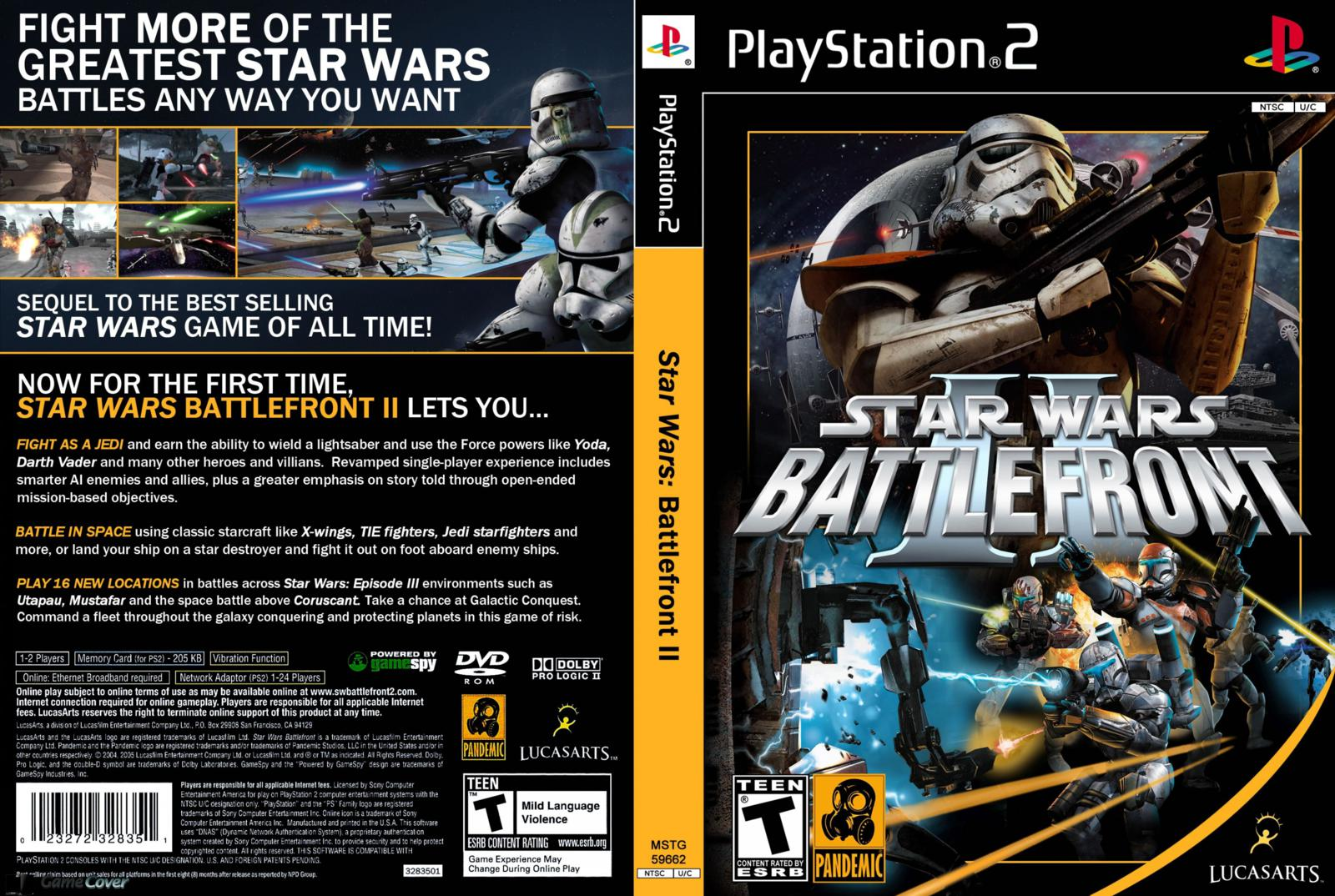 Avis images du web pour star wars battlefront ii sur playstation 2