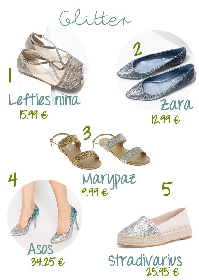 Zapatos con purpurina, glitter en tus pies