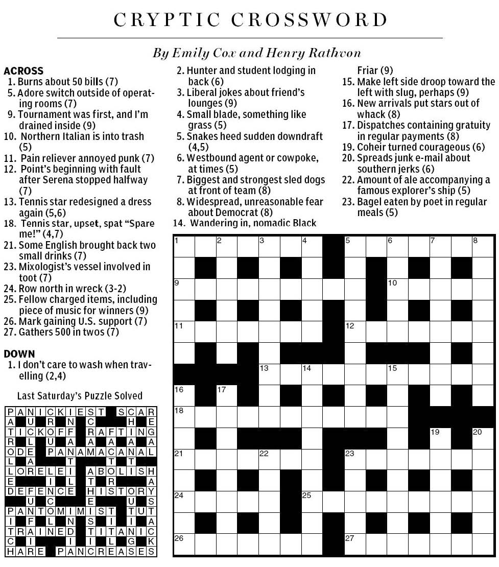 Sch research papers crossword clue - graffiti gr