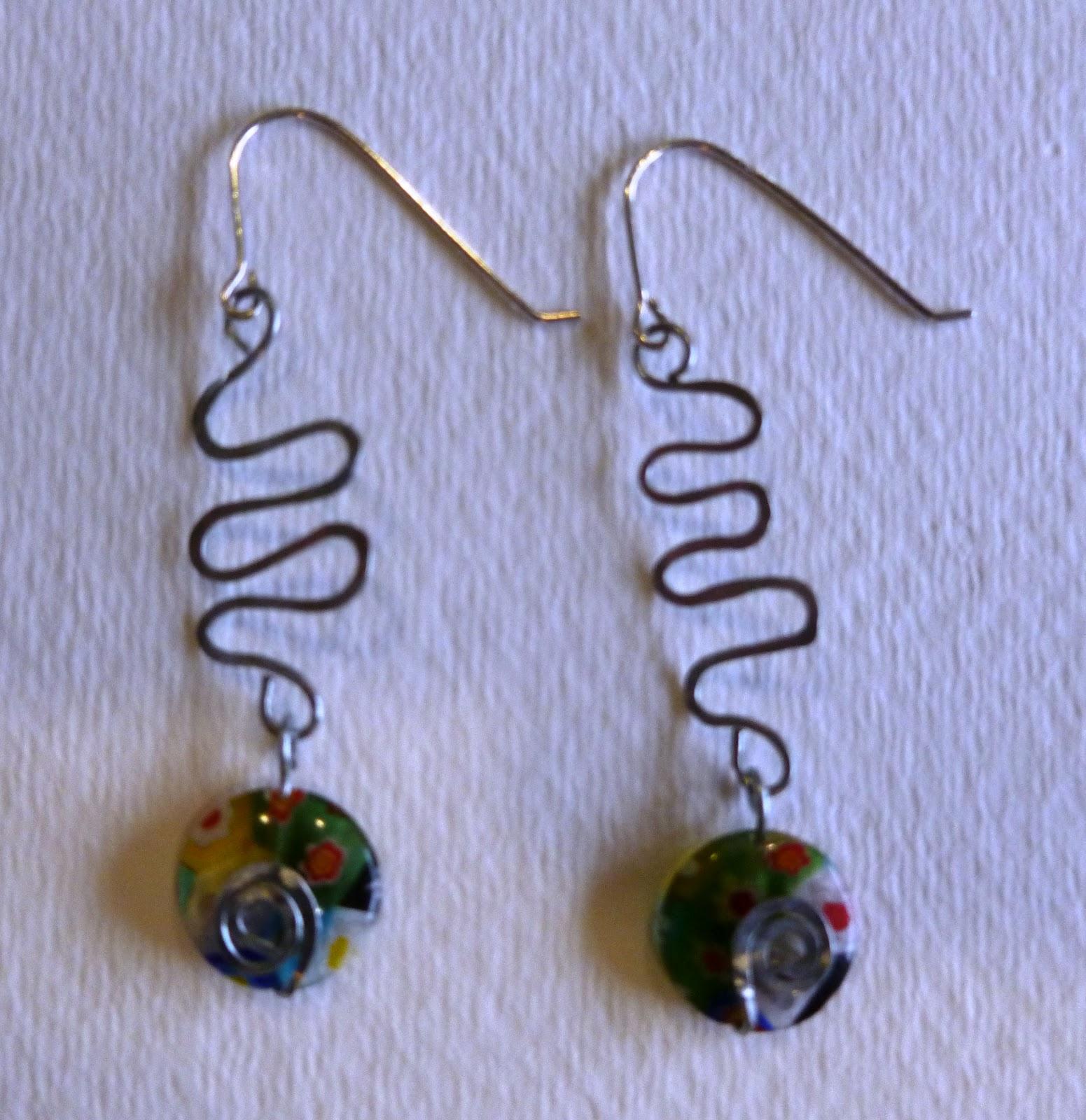 Just Look Up!: Hammered metal earrings