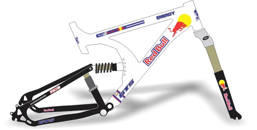 Armario Capsula Masculino ~ Stickers Design Adesivo bike GTS Red Bul