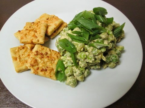 Crushed Peas with Smoky Sesame Dressing