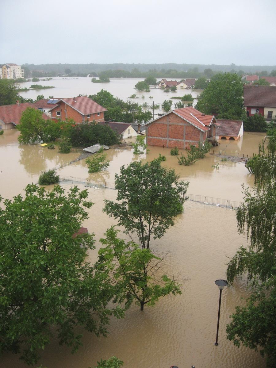 Poplavljene kuće u Obrenovcu