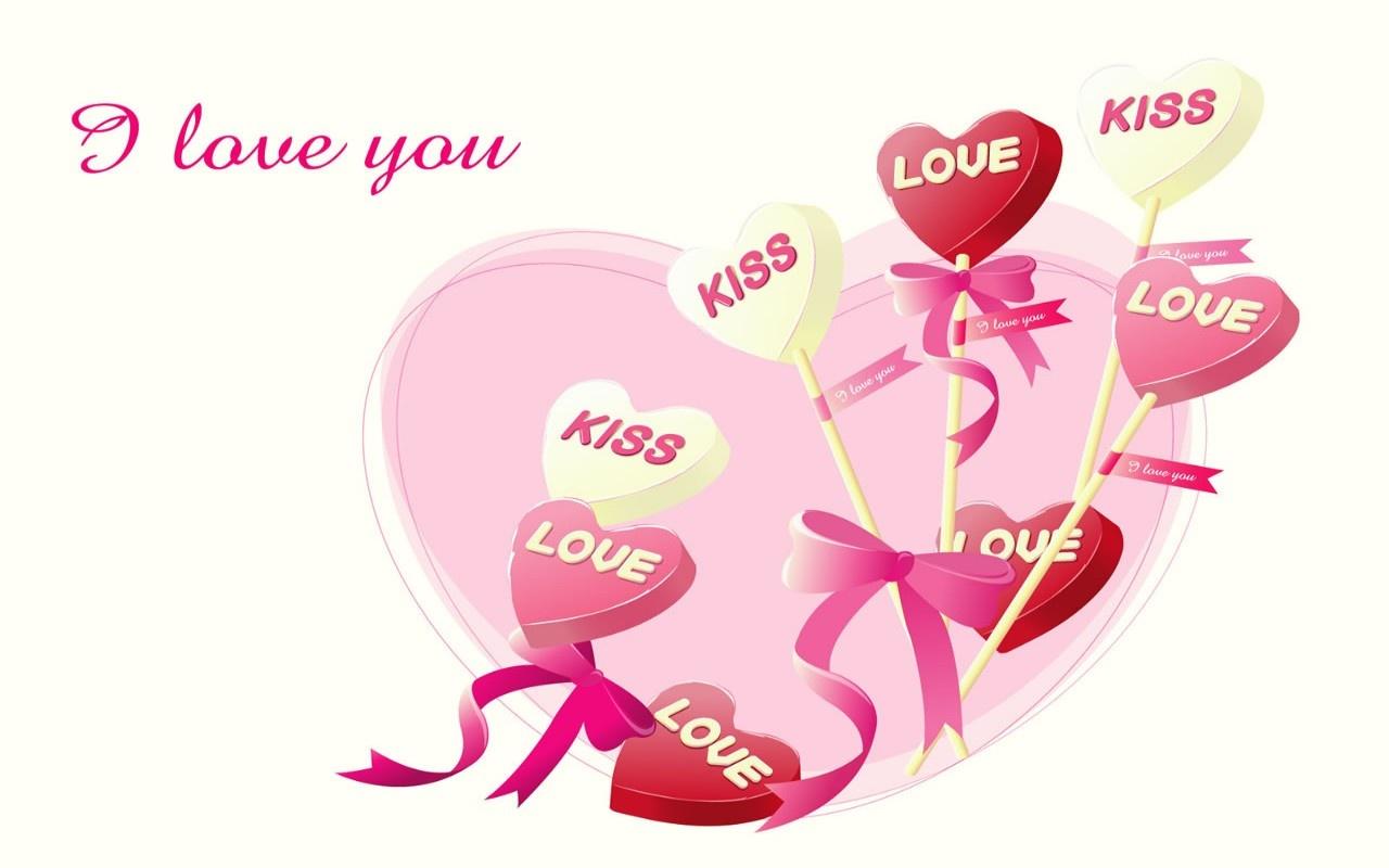 Otra imagen de amor HD con la frase Te Amo Son chupetines con forma de corazon muy lindos que poseen la frase Love Su significado es AMOR en ingles