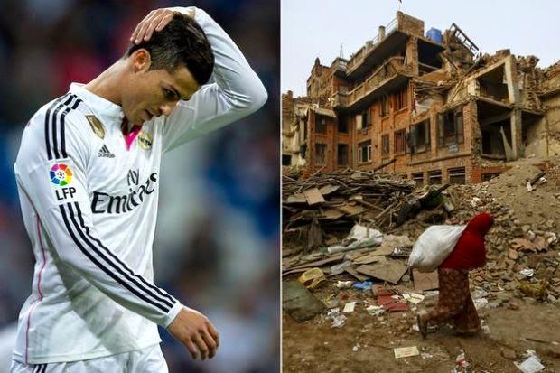 Christiano Ronaldo Derma RM27 Juta Kepada Mangsa Gempa Bumi Nepal