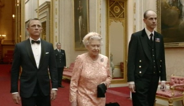 The Queen and James Bond.