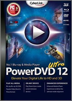CyberLink PowerDVD 3D 12.0.1905.56 Ultra + Crack