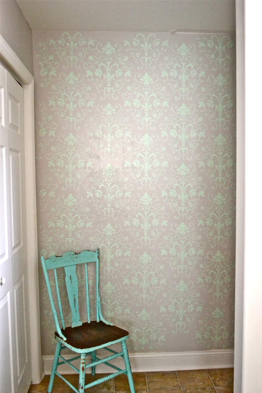 Liz Marie Stenciled Bathroom Wall