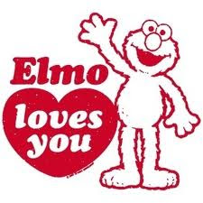 Elmo Loves You ! Sayang Aku Lettew . Haha ! >