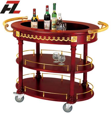 China hotel supplies manufacturer four wheels bar carts for Food bar manufacturers