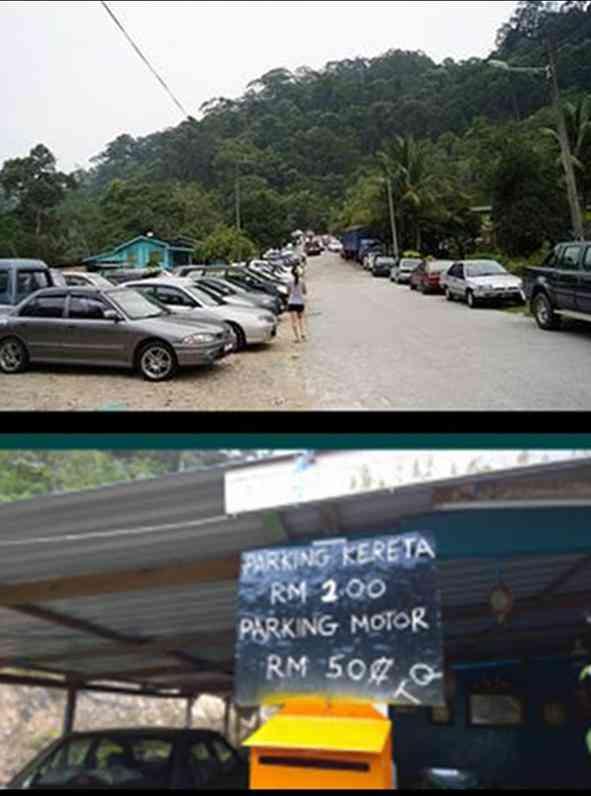 Mount Pulai car park view