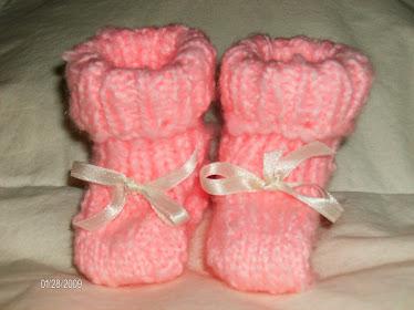 Petites pantoufles pour bébé