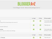 BloggerAtoZ.com, Tempat yang Cocok Untuk Belajar Ngeblog