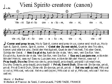 Cantus Mundi: Vieni Spirito creatore (Taizé)