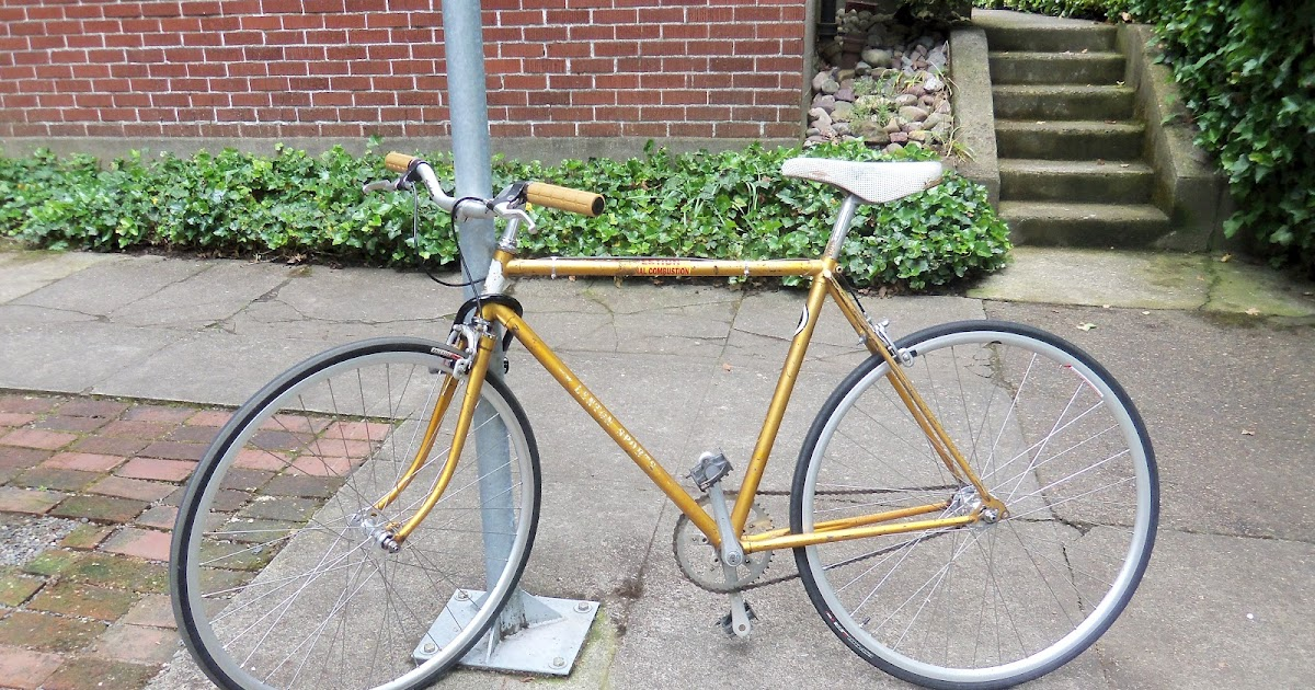Cool Parked Wheels Raleigh Lenton Sports Bicycle Gold