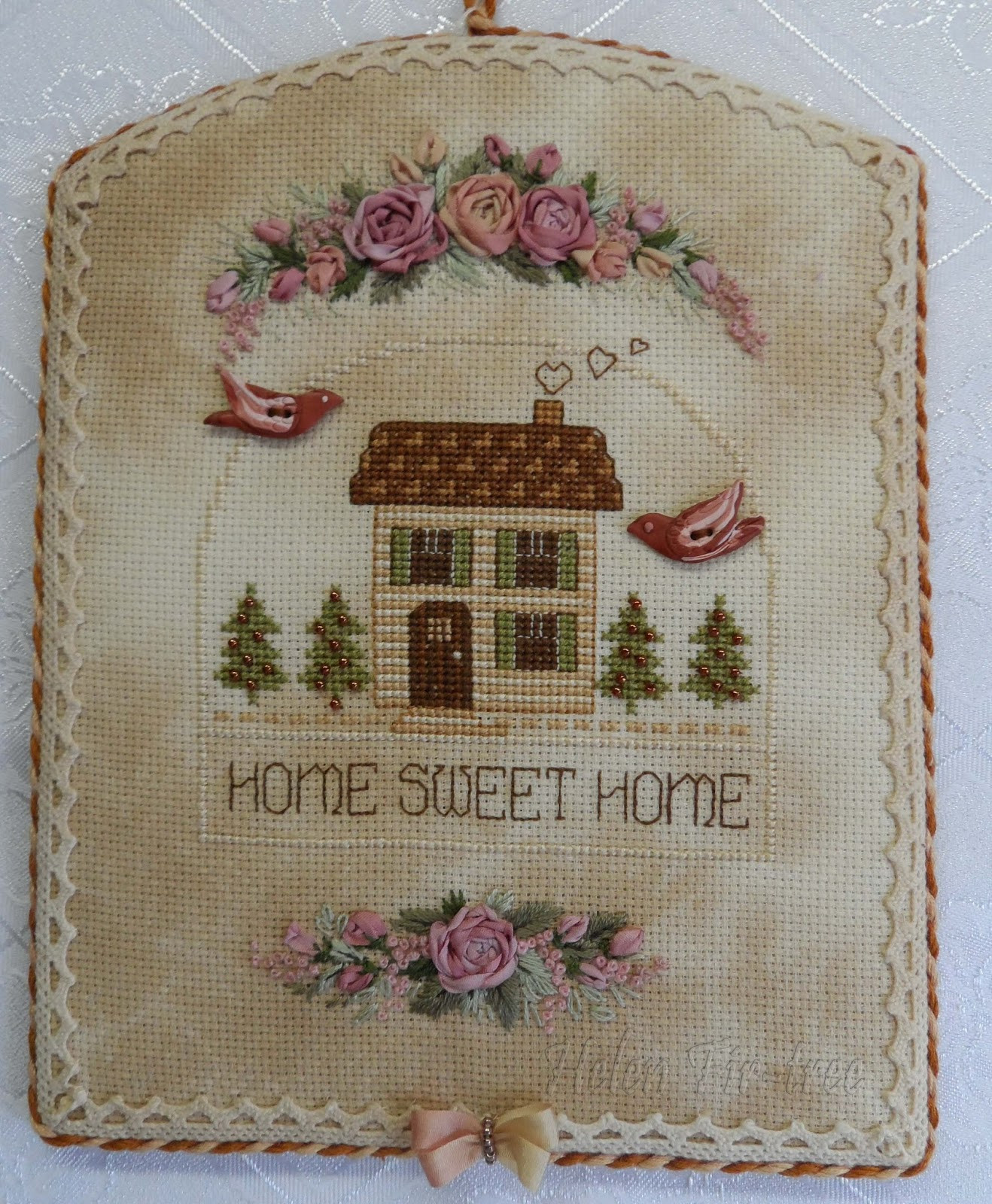 Helen Fir-tree вышивка пинкип cross stitch pinkeep