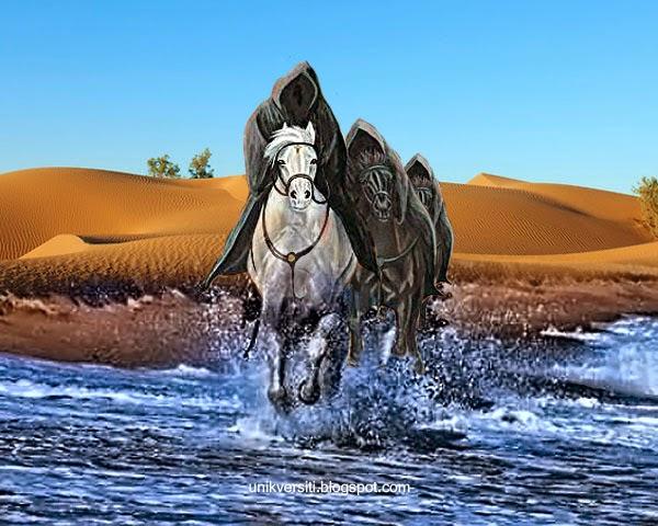 Karamah sahabat menunggang kuda di atas air