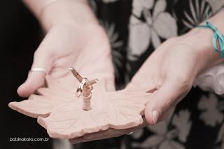 Porta alianças de casamento em cerâmica