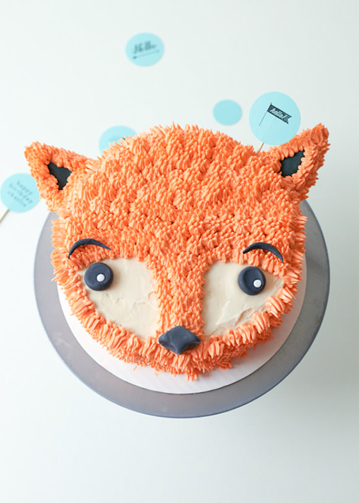 Party Animal Fox Cake
