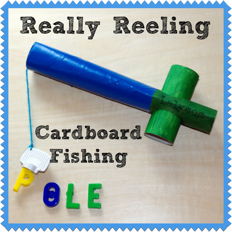 Diy cardboard fishing pole for kids lalymom for Fishing poles for kids