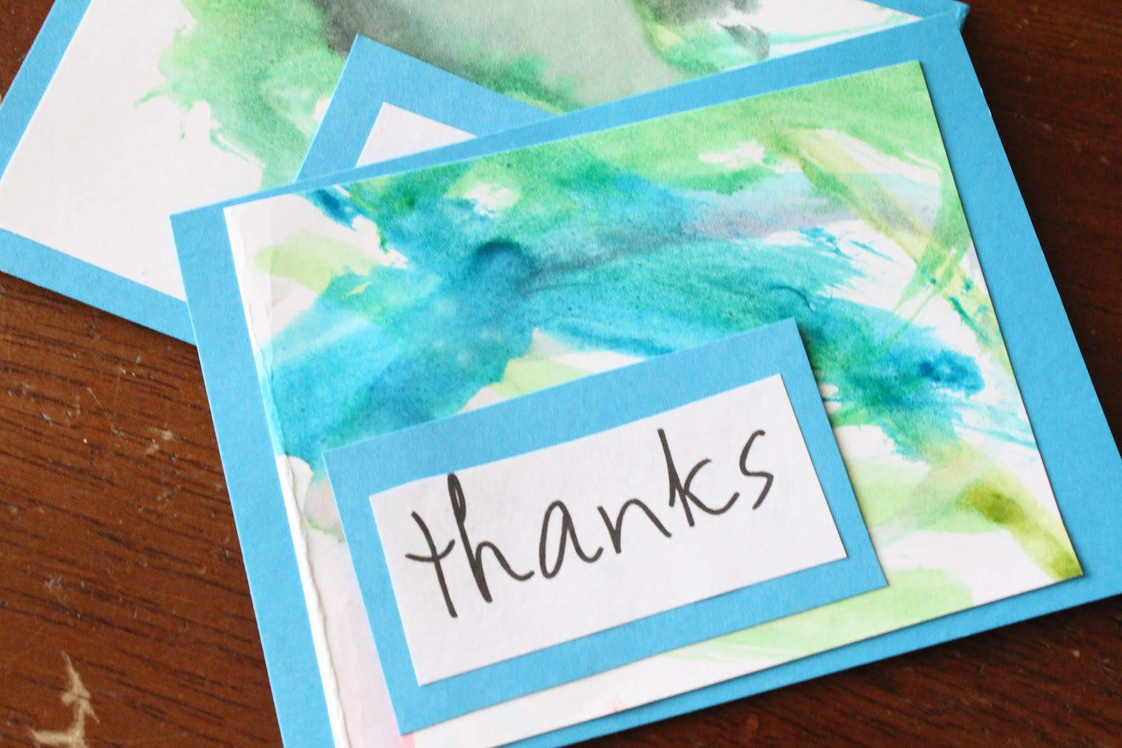 Do it yourself divas diy making a thank you card out of kid art diy making a thank you card out of kid art solutioingenieria Choice Image