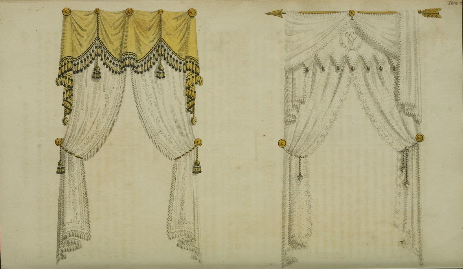 ekduncan - my fanciful muse  regency era curtains