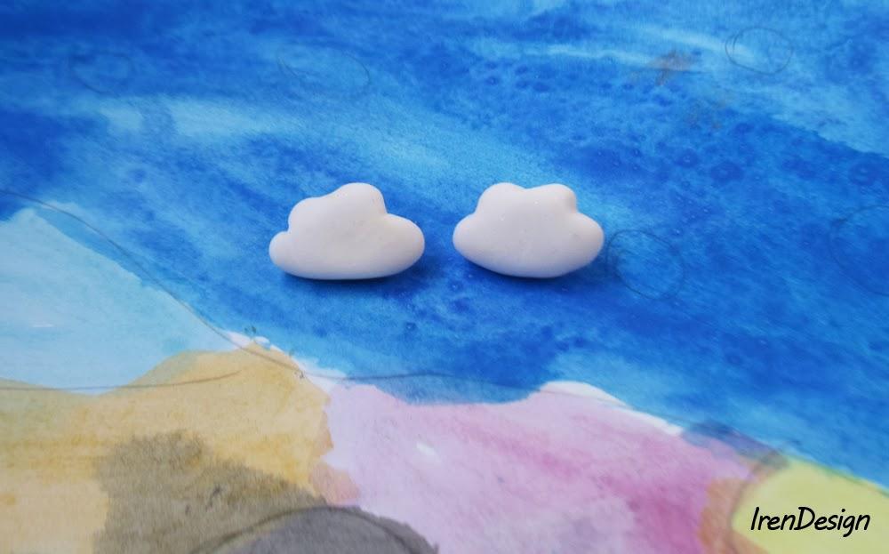Polymer clau stud earrings