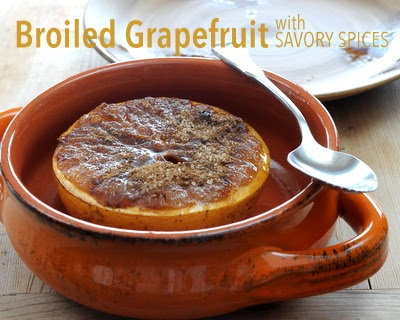 Three ways to broil grapefruit, here Broiled Grapefruit the 'Spicy Way' with Savory Spices