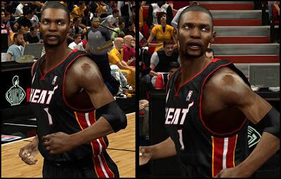 NBA 2K13 Chris Bosh Cyberface w/ Mouthpiece Patch