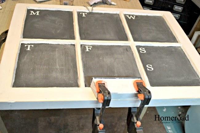 Window Weekly Calendar Chalkboard  www.homeroad.net