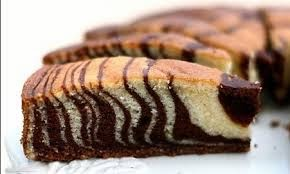 طريقة تحضير الكيكة الرخامية أو المخططة بالمراحل المصورة