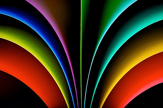 Abstract Photography With Paper on Colorful Metal Art