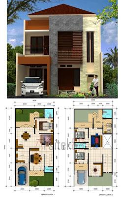 desain rumah type 36 2 lantai