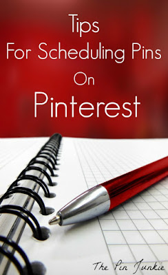 tips for scheduling pins on Pinterest